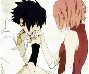 anime, sasusaku, and sakura image