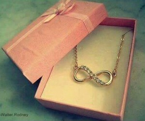 infinity, necklace, and pink image
