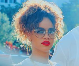 rihanna, red, and red lips image