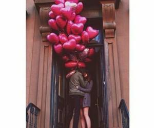 ballons, birthday, and heart image