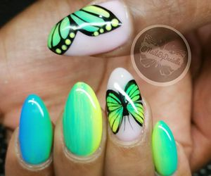 butterfly, fashion, and neon image