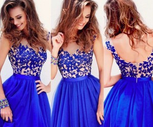 beatifull, dress blue, and vestido azul image