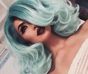 hair, makeup, and blue image