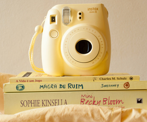 yellow, book, and instax image