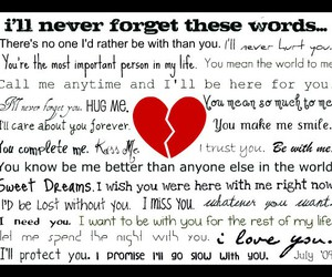 love, heart, and words image