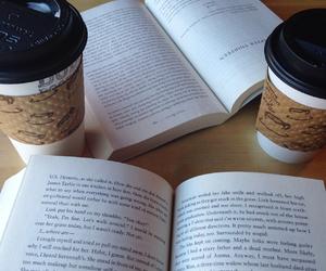 books, coffee, and minimalist image