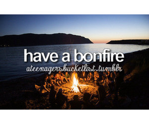 ideas, bonfire, and bucket list image