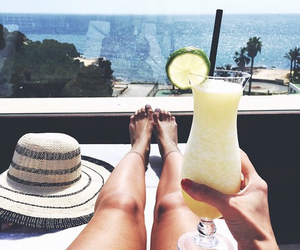 summer, drink, and holiday image