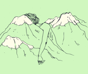 green, art, and mountains image