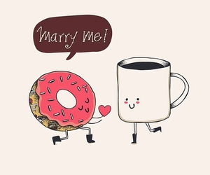 love, coffee, and donuts image
