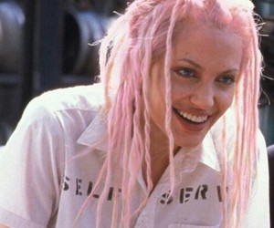 Angelina Jolie, dreads, and pink image
