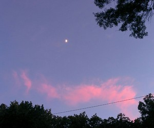 moon, purple, and pink image