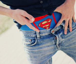 superman, boy, and underwear image