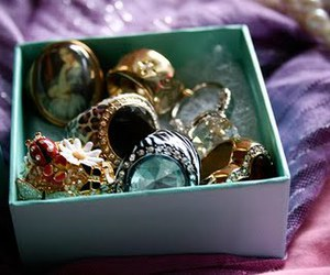 rings, box, and jewelry image