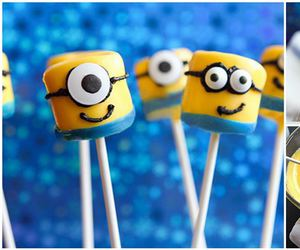 minions, food, and marshmallow image