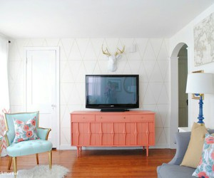 coral and living room image