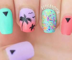 nails, summer, and art image