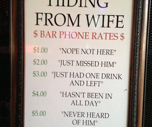 funny, wife, and bar image