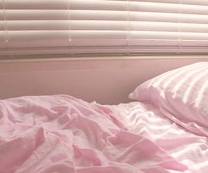 pink, bed, and aesthetic image