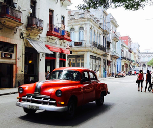 cuba, red car, and vintage image