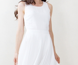 dress, pleat, and white image