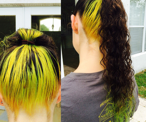 curly, neon, and tips image