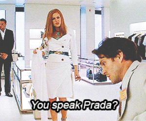 Prada, fashion, and movie image