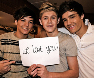 louis, payne, and niall image