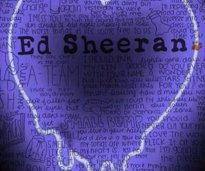 neon sign, wallpaper, and ed sheeran image