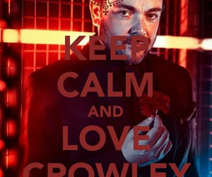 crowley, hell, and keep calm image
