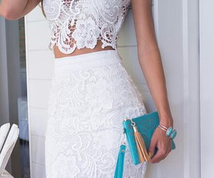 style, dress, and white image