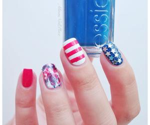 4th of july, independence day, and manicure image