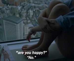 grunge, are you happy?, and lonely image