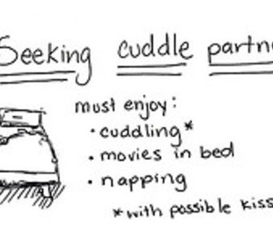 cuddle, love, and kissing image
