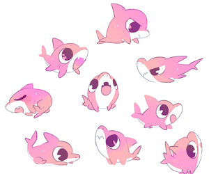 shark, pink, and cute image