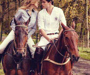 horse, love, and couple image