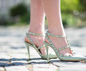 fashion, mint, and heels image