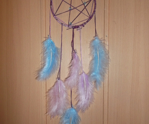 blue, diy, and dreamcatcher image