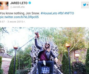jared leto, game of thrones, and jon snow image