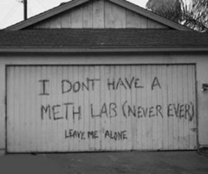 meth, meth lab, and drugs image
