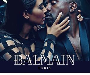 kanye west, Balmain, and kim kardashian image