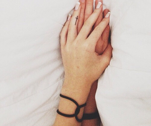 beautiful, hands, and white image