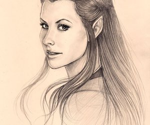drawing, the hobbit, and tauriel image