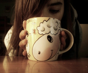 cool, girl, and cup image