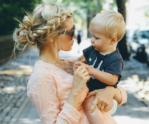 baby, blonde, and cute image