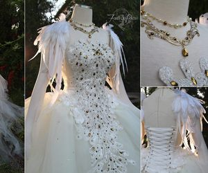 swan dress, firefly path, and golden fantasy dress image