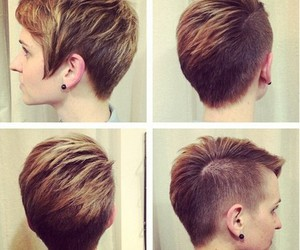 hair style, pixie, and hair color image