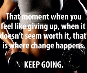don't give up, motivation, and workout image