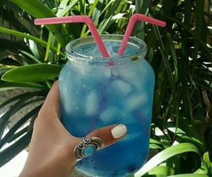 summer, drink, and blue image
