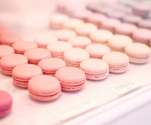 food, girl, and macaroons image